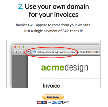 Invoiceable own domain