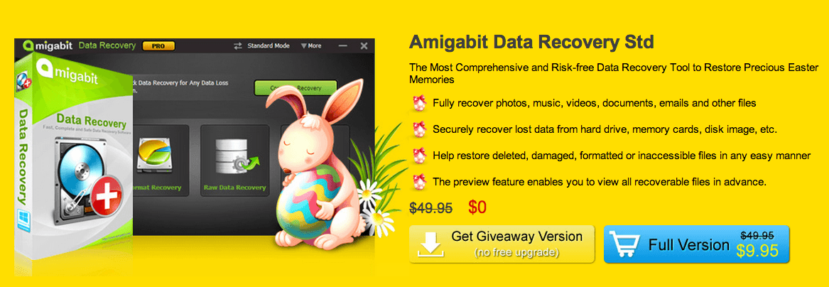 Amigabit Data Recovery giveaway