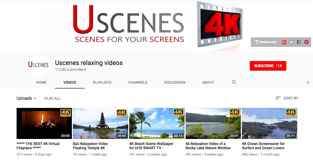 Uscenes relaxation videos